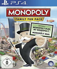 PS4 - PlayStation 4 Spiel MONOPOLY - FAMILY FUN PACK in OVP mit Anleitung