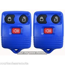 2 New DK Blue Replacement Remote Key Keyless Entry Transmitter FOB Clicker Alarm