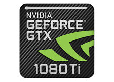 "nVidia GeForce GTX 1080 Ti 1""x1"" Chrome Effect Domed CaseBadge/ Sticker Log"