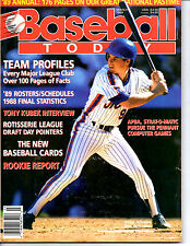 1989 BASEBALL TODAY ANNUAL YEARBOOK MAGAZINE-GREGG JEFFERIES-NEW YORK METS