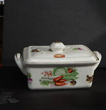 Early Antique Covered Dish Vegetables Mushrooms Carrots Tomatoes Turnups RARE
