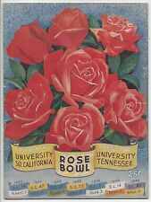 1945 College Football program Rose Bowl,USC Trojans v Tennessee Volunteers tear