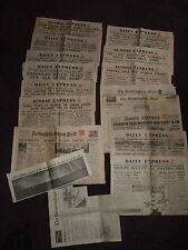 1943 COLLECTION OF 11 NEWSPAPERS & 6 CLIPS ROMMEL DEFEATED ITALY OUT OF THE WAR