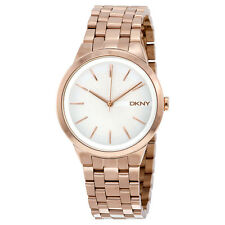 DKNY Park Slope Silver Dial Rose Gold-tone Ladies Watch NY2383