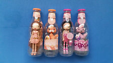 Lot of 4 Yummi Land Dolls with Bottles