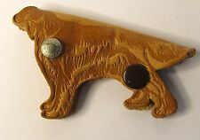 1950's RIVAL DOG FOOD figural dogLEATHER fob key ring holder case