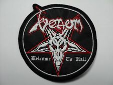 VENOM ROUND WELCOME TO HELL   EMBROIDERED PATCH