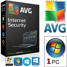AVG Antivirus  Versione Internet Security 2016 1ANNO 1PC _ ORIGINALE DURATA VERA