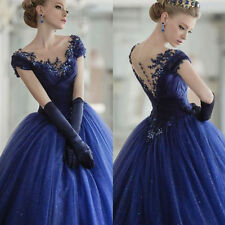 2017 Royal Blue Quinceanera Dresses Ball Gown Prom Party Pageant Dresses custom
