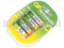 GP Rechargeable AAA LR3 750 NiMH Battery x4 w/CASE