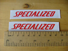 SPECIALIZED Bike / Mtb Decals   Self Adhesive   A Pair (t4) FREEPOST WORLDWIDE
