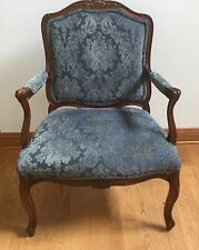 Thomasville Fiorita Carved Upholstered  Wide French Arm Chair EUC!!