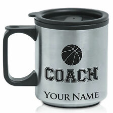 Personalized Stainless Steel Coffee Mug - Basketball Coach, Manager, Team