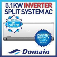 NEW DOMAIN PREMIUM 5.1KW INVERTER REVERSE SPLIT SYSTEM AIR CONDITIONER AC