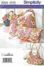 Simplicity 2201 Misses' / Women's Bags   Sewing Pattern