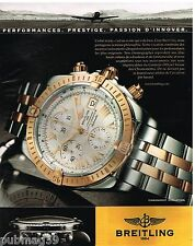 Publicité Advertising 2006 La Montre Chronomat Evolution par Breitling