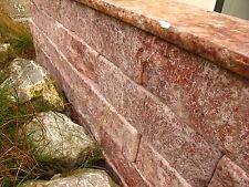 Rote Travertin Stein Mauer Mauersteine Trockenmauer Steinmauer Naturstein neu