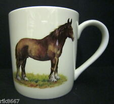 Extra Large Fine Bone China One Pint Pot Mug Horse