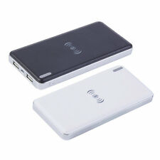 10000mAh High-Capacity Qi Wireless Charger Transmitter Power Bank For Phone Blac