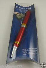 compatible with Ipad iphone smart phone 2 in 1 stylus pen metallic red