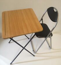 Folding Table chair Portable Snack Lunch Laptop Coffee camping patio Table chair