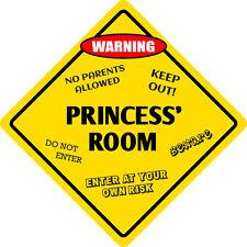 """*Aluminum* Princess' Room Kids Room Door 12""""x12""""  Metal Novelty Sign"""
