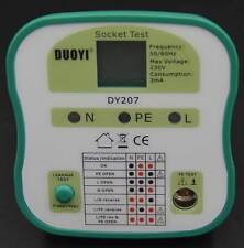 DY207 Electrical Socket Tester RCD Plug EU Version PE, L and N connection