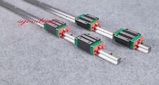 2Pcs High Precision HGR20 1500mm(L)  Linear guide rail  + 4Pcs HGH20CA carriages