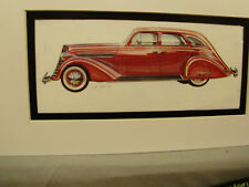 1935 Nash Ambassador      Artist Auto Museum Full color Artist Illustrated