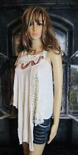 GIMMICKS by BKE Crochet & Bead Embellished Drape Top. Size X-Small. Very Pretty.