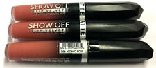 LOT OF 3 / Rimmel Show Off Lip Velvet Matte / 206 Atomic Rose *UNSEALED*