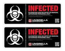 2pcs Umbrella Corporation Resident Evil Infected Biohazard car stickers decal
