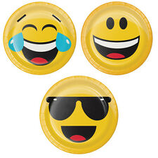 EMOJIONS Emoji DESSERT PLATES Smiley Face Birthday Party Supplies Tableware