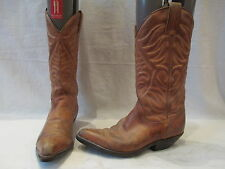 LADIES TONY MORA BROWN LEATHER PULL ON COWBOY BOOTS UK 3.5 EU 36 (155)