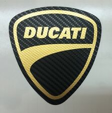 Motorsport Sticker Ducati Carbon black Gold for motorcycle or car