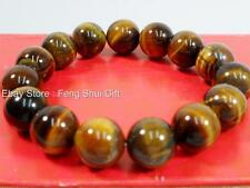 12mm Tiger Eye Tibet Buddhist Chinese Oriental Monk Mala Bracelet Prayer Bead