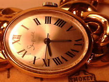 Ladies Swiss Made Sheffield Gold Tone Bracelet Wind up  Mechanical  Watch