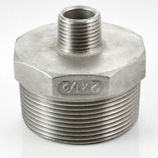 """2""""x1/2"""" Male Hex Nipple Threaded Reducer Pipe Fitting Stainless Steel 304 NPT CH"""