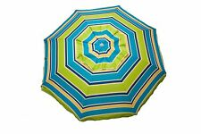 7 ft Beach Umbrella Lime Stripe With Travel Bag