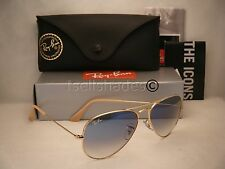 Ray Ban 3025 Aviator Gold w Blue Gradient Lens (RB3025 001/3F 55mm size)
