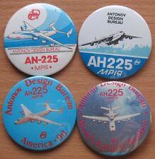 4 Sign Pin ANTONOV An 225 Air Plane Craft BADGE Space Shuttle Buran Aeroflot AH
