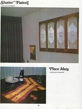 Window Shutter & More Vintage Patterns in Macrame for Home Decor #819 Craft Book