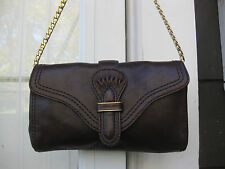 MICHAEL KORS Brown Leather POUCHETTE BAG ...SHOULDER BAG