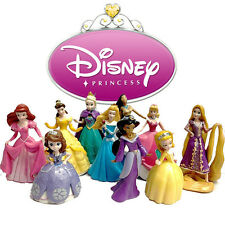 Set 10p Catoon Disney Princess Belle Beauty Rapunzel Cinderella Figure Figurine