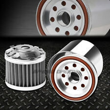 "3""ALUMINUM CAN 30 MICRO WASHABLE REUSABLE MESH STAINLESS STEEL ENGINE OIL FILTER"