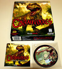 PC SPIEL GAME CARNIVORES BIG BOX DINOSAUR SHOOTER DINOSAURIER WIZARD WORKS 1998