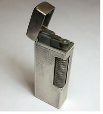 Silver Plated Dunhill Rollagas lighter, Barley, great working condition