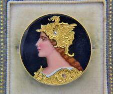 A Stunning French Circa 1865 Limoges Enamel Brooch