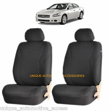 BLACK SPEED AIRBAG COMPATIBLE FRONT SEAT COVER SET for NISSAN ALTIMA SENTRA