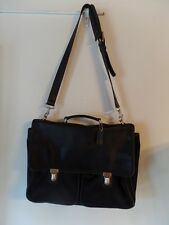 Coach Black Nylon Leather Trim Messenger Crossbody Bag Purse 5101